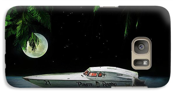 Galaxy Case featuring the painting Pirate Racing by Michael Cleere