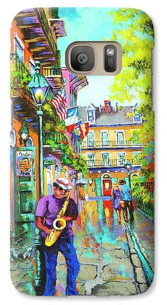 Galaxy Case featuring the painting Pirate Sax  by Dianne Parks