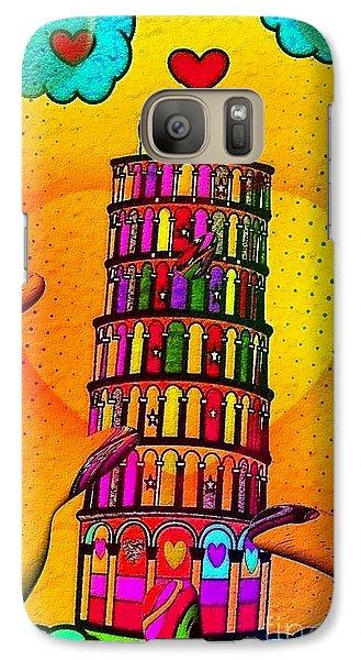 Galaxy Case featuring the digital art Pisa Popart By Nico Bielow by Nico Bielow