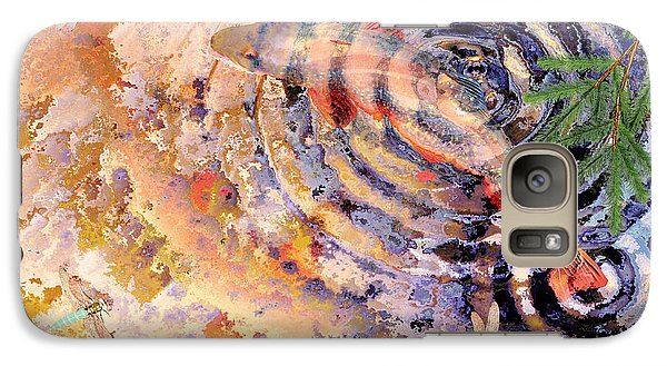 Galaxy Case featuring the painting Pisces by Peter J Sucy
