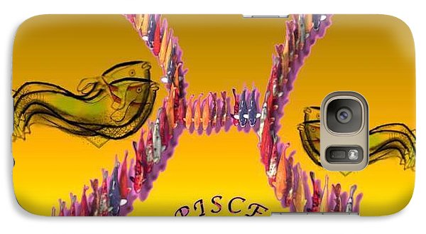 Galaxy Case featuring the painting Pisces by The Art of Alice Terrill