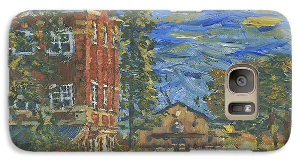 Galaxy Case featuring the painting Piskor Hall On An August Evening by Denny Morreale