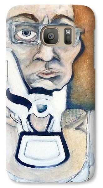 Galaxy Case featuring the painting Pissed Crisis by Carolyn Weltman