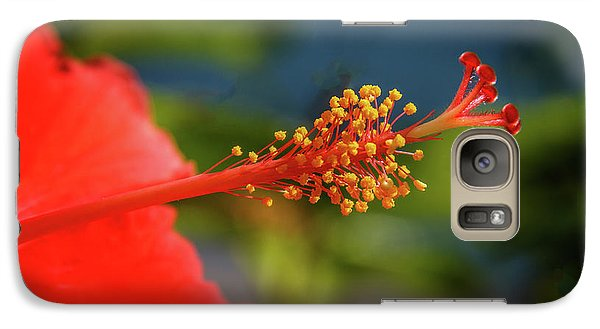Galaxy Case featuring the photograph Pistil Of Hibiscus by Robert Bales