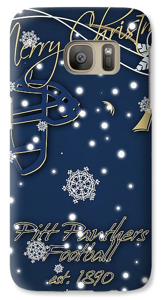 Pitt Panthers Christmas Cards Galaxy Case by Joe Hamilton