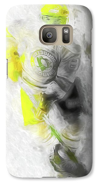Galaxy Case featuring the photograph Pittsburgh Penguins Nhl Sidney Crosby Painting Fantasy by David Haskett