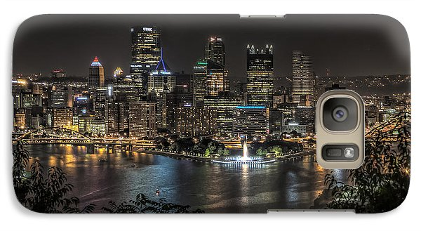 Galaxy Case featuring the photograph Pittsburgh Skyline by Brent Durken
