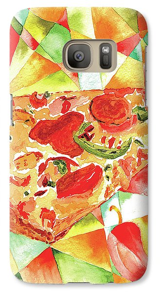 Galaxy Case featuring the painting Pizza Pizza by Paula Ayers