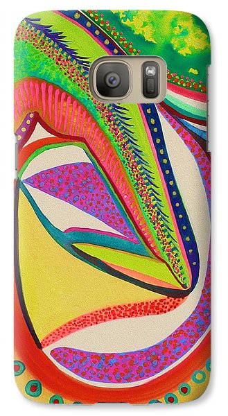 Galaxy Case featuring the painting Placebo by Polly Castor