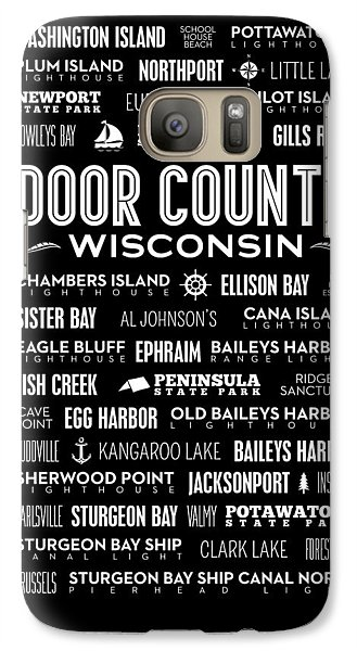 Places Of Door County On Black Galaxy S7 Case