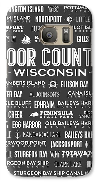 Places Of Door County On Gray Galaxy Case by Christopher Arndt