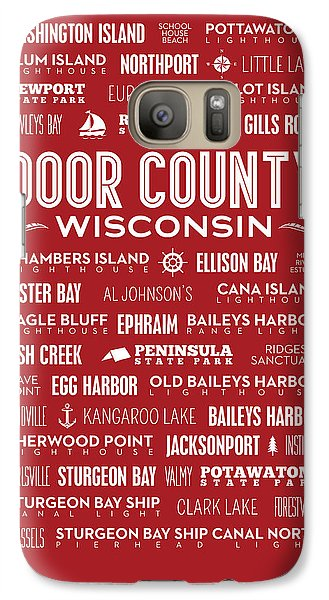Places Of Door County On Red Galaxy S7 Case