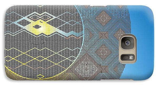 Galaxy Case featuring the digital art Plaid by Lynda Lehmann