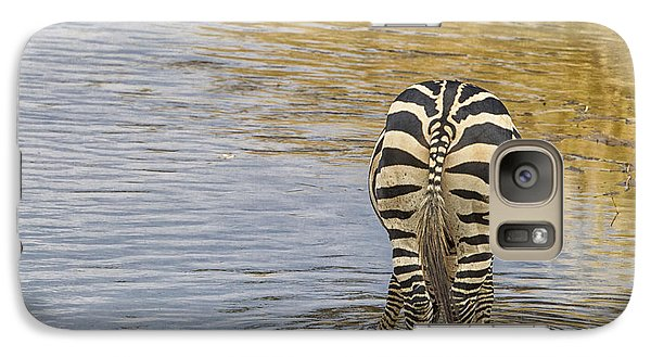 Galaxy Case featuring the tapestry - textile Plains Zebra by Kathy Adams Clark