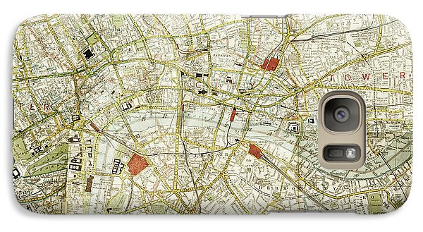 Galaxy Case featuring the photograph Plan Of Central London by Patricia Hofmeester