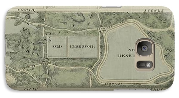 Galaxy Case featuring the photograph Plan Of Central Park City Of New York 1860 by Duncan Pearson