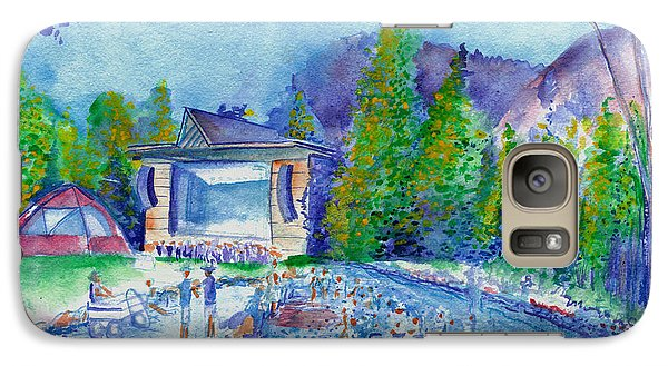 Galaxy Case featuring the painting Planet Bluegrass Lyons Colorado by David Sockrider
