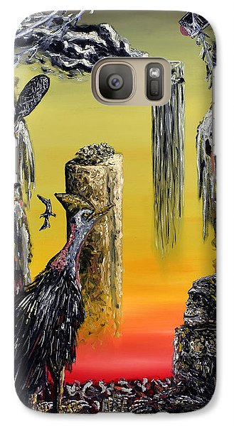 Galaxy Case featuring the painting Planet Of Anomalies by Ryan Demaree