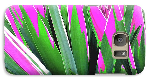 Galaxy Case featuring the photograph Plant Burst - Pink by Rebecca Harman