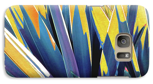 Galaxy Case featuring the photograph Plant Burst - Yellow by Rebecca Harman