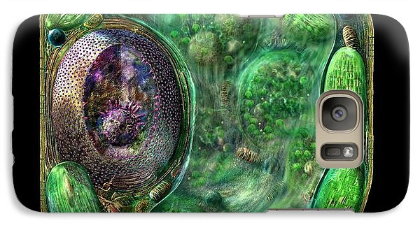 Galaxy Case featuring the digital art Plant Cell by Russell Kightley