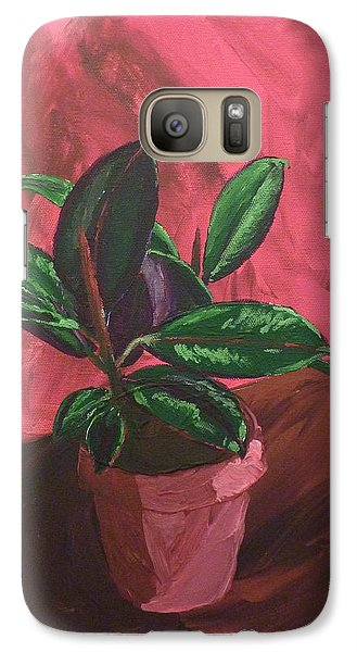 Galaxy Case featuring the painting Plant In Ceramic Pot by Joshua Redman