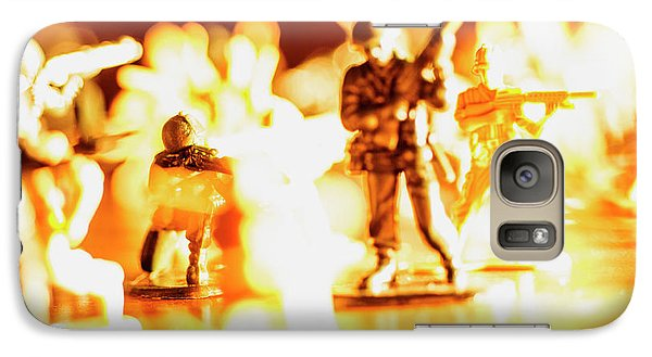 Galaxy Case featuring the photograph Plastic Army Men 1 by Micah May