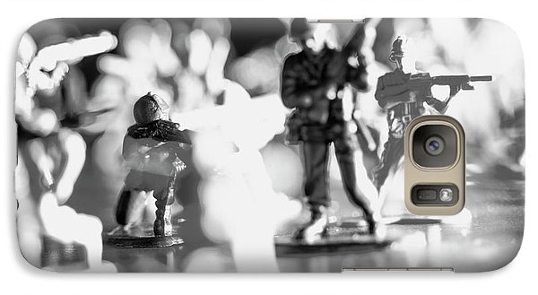Galaxy Case featuring the photograph Plastic Army Men 2 by Micah May