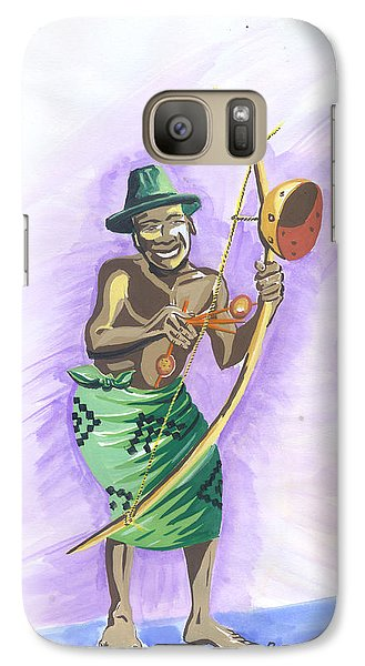 Galaxy Case featuring the painting Player Umuduri From Rwanda by Emmanuel Baliyanga