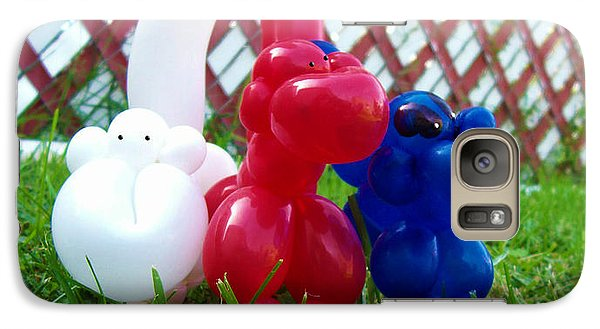 Galaxy Case featuring the photograph Playful Balloon Monkeys by Shawna Rowe