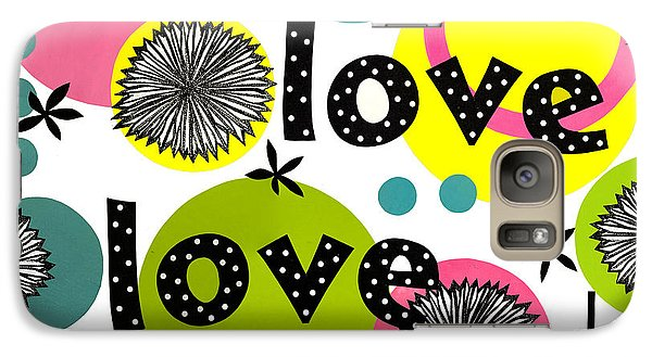 Galaxy Case featuring the mixed media Playful Love by Gloria Rothrock