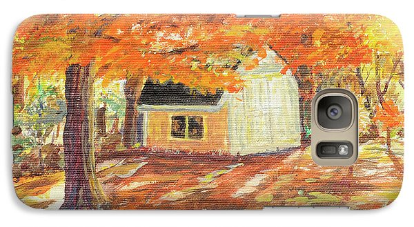 Galaxy Case featuring the painting Playhouse In Autumn by Carol L Miller