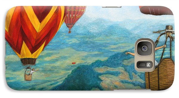 Galaxy Case featuring the painting Playing Catch by Jason Marsh