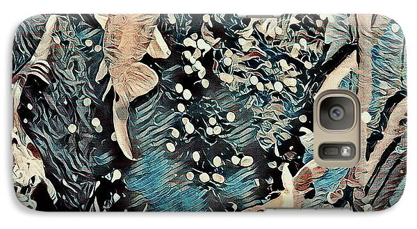 Galaxy Case featuring the digital art Playing It Koi by Mindy Newman
