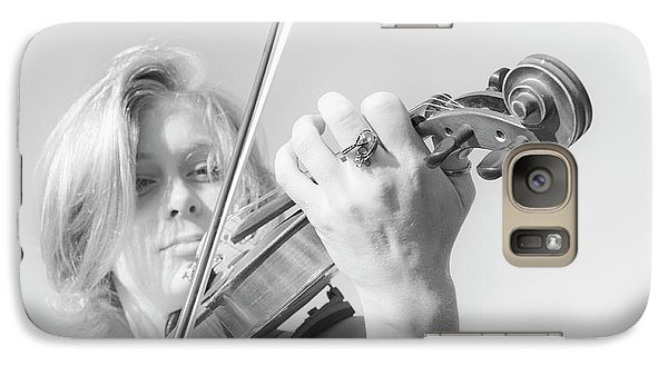 Galaxy Case featuring the photograph Playing Me Softly by Bob Christopher