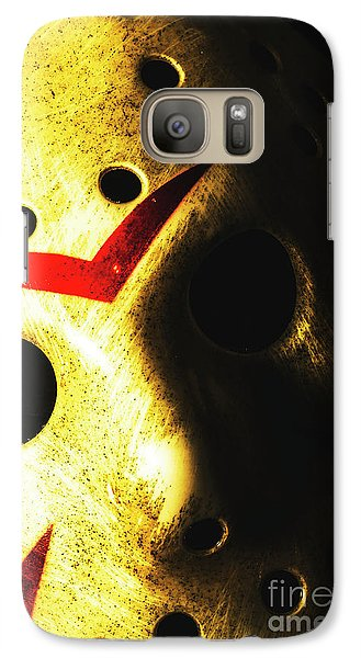 Hockey Galaxy S7 Case - Playing The Intimidator by Jorgo Photography - Wall Art Gallery
