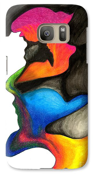 Galaxy Case featuring the painting Playing With Colors by Fanny Diaz