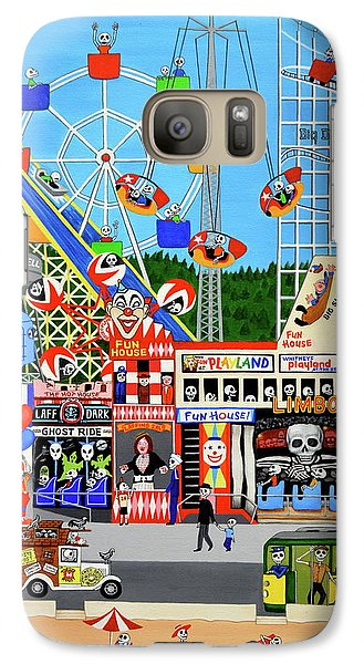 Galaxy Case featuring the painting Playland In The Afterlife by Evangelina Portillo