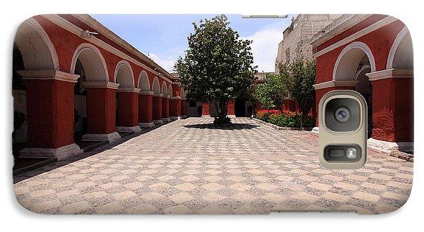 Galaxy Case featuring the photograph Plaza At Santa Catalina Monastery by Aidan Moran