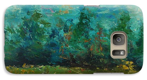 Galaxy Case featuring the painting Plein Air With Palette Knives by Carol Berning