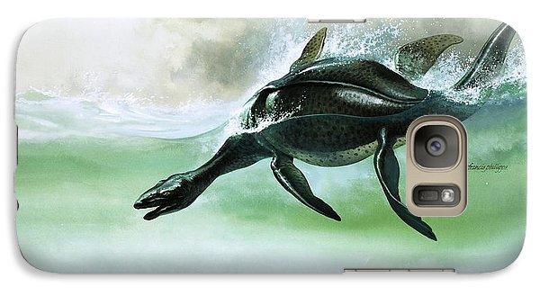 Plesiosaurus Galaxy Case by William Francis Phillipps