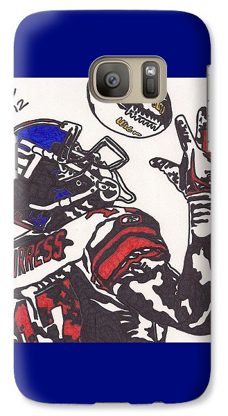 Galaxy Case featuring the drawing Plexico Burress by Jeremiah Colley