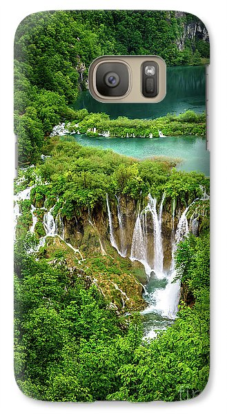 Plitvice Lakes National Park - A Heavenly Crystal Clear Waterfall Vista, Croatia Galaxy S7 Case