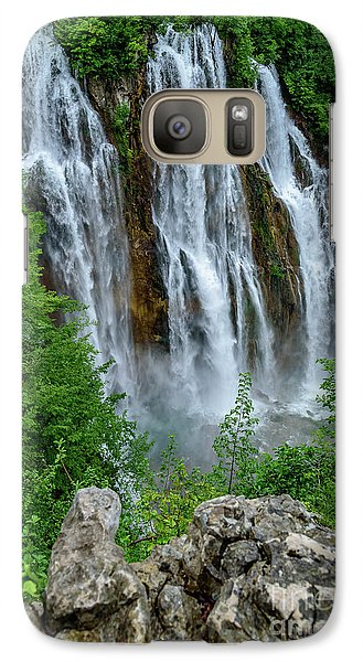 Plitvice Lakes Waterfall - A Balkan Wonder In Croatia Galaxy S7 Case