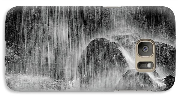 Plitvice Waterfall Black And White Closeup - Plitivice Lakes National Park, Croatia Galaxy S7 Case