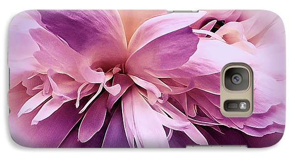 Galaxy Case featuring the photograph Plum Ballet Powder Puff by Darlene Kwiatkowski