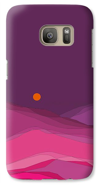 Galaxy Case featuring the digital art Plum Hills II by Val Arie