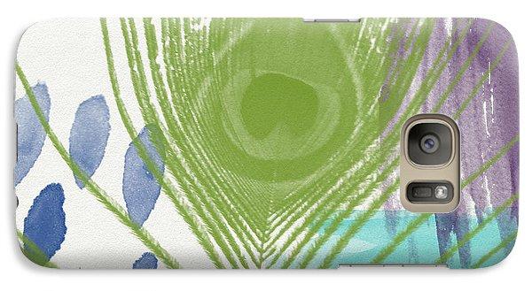 Peacock Galaxy S7 Case - Plumage 4- Art By Linda Woods by Linda Woods