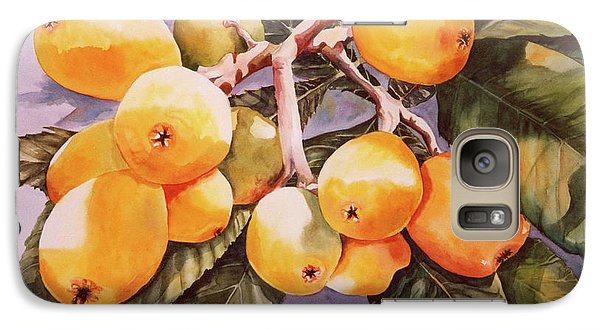 Galaxy Case featuring the painting Plumb Juicy by Roxanne Tobaison