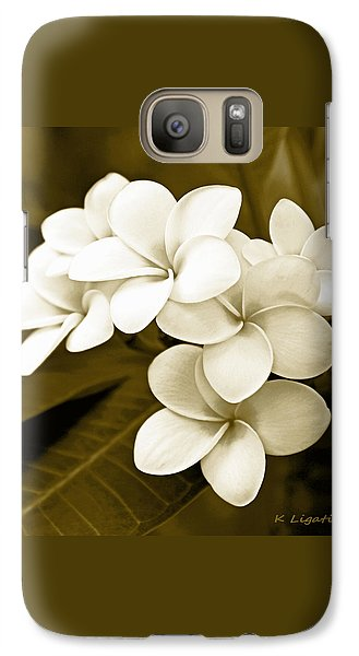 Galaxy Case featuring the photograph Plumeria - Brown Tones by Kerri Ligatich